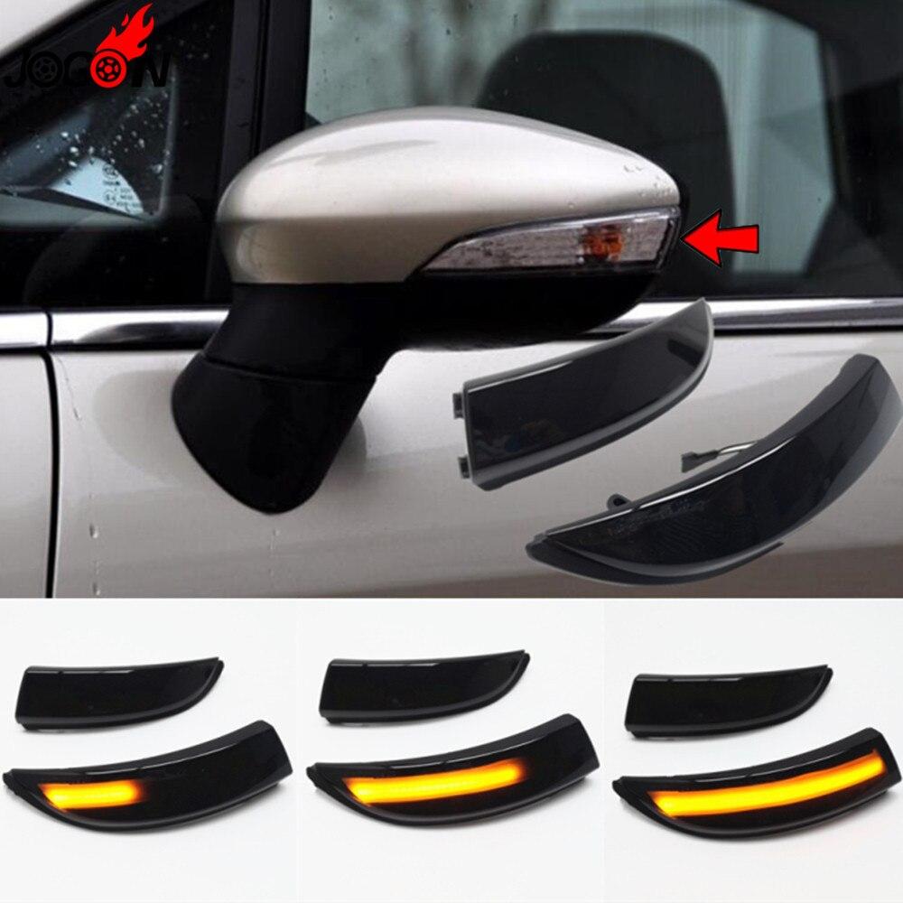 Светодиодный светильник с динамическим поворотом, боковое зеркало, последовательный индикатор, мигалка, лампа для Ford Fiesta MK6 VI/UK MK7 2008-17 B-Max 2012-17