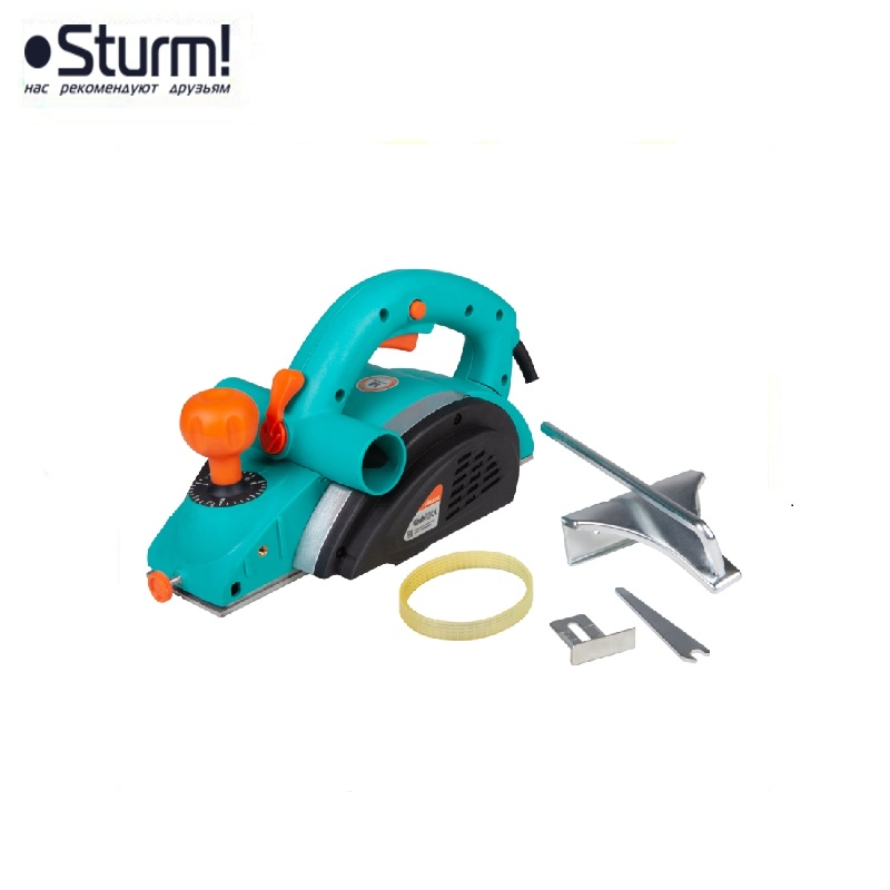 P1011 Planer electric Sturm, 1100 W, width 82 mm, depth 3 mm, 14000 rpm, Thursday 0-18 mm Joiner's powerful Electric Tool