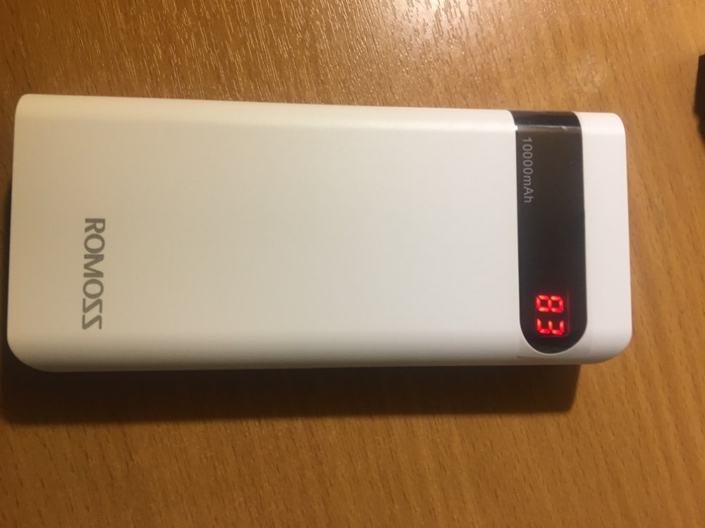 External Battery Romoss Sense 4P 10000 mAh with indication of charge bank with indicator [delivery from Russia]-in Power Bank from Cellphones & Telecommunications on AliExpress