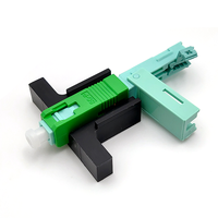 250 PCS/Lot SC APC Fast Connector Single Mode Connector FTTH Tool Cold Connector Tool Fiber Optic Fast Connnector 53mm