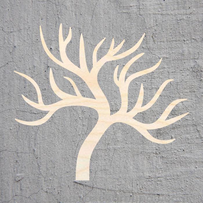Large LEAF TREE LASER CUT MDF WOODEN SHAPE Craft Arts Decoration Small