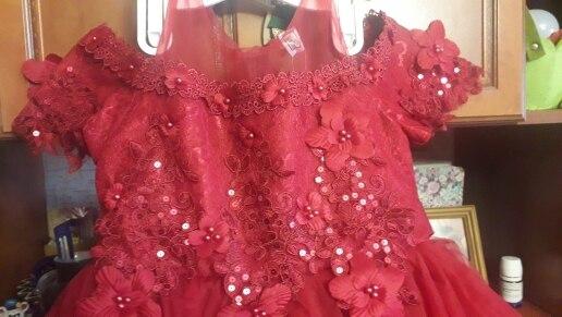 4 14Y Lace Teenagers Kids Girls Wedding Long Dress elegant Princess Party Pageant Christmas Formal Sleeveless Dress Clothes|girls clothes|long girl dressgirl wedding - AliExpress