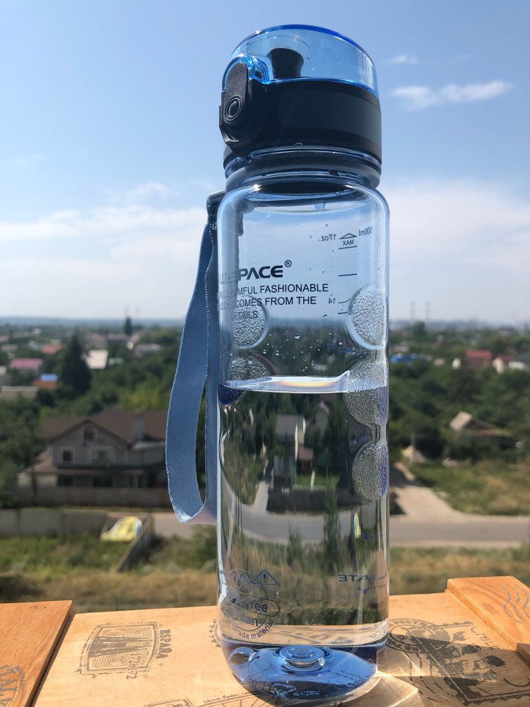 UZSPACE Sports Water Bottle Plastic Drinkware Tour Hiking Fruit Juice Tea Infuser Portable Drink Bottles BPA Free 350ML 500ML-in Water Bottles from Home & Garden on AliExpress