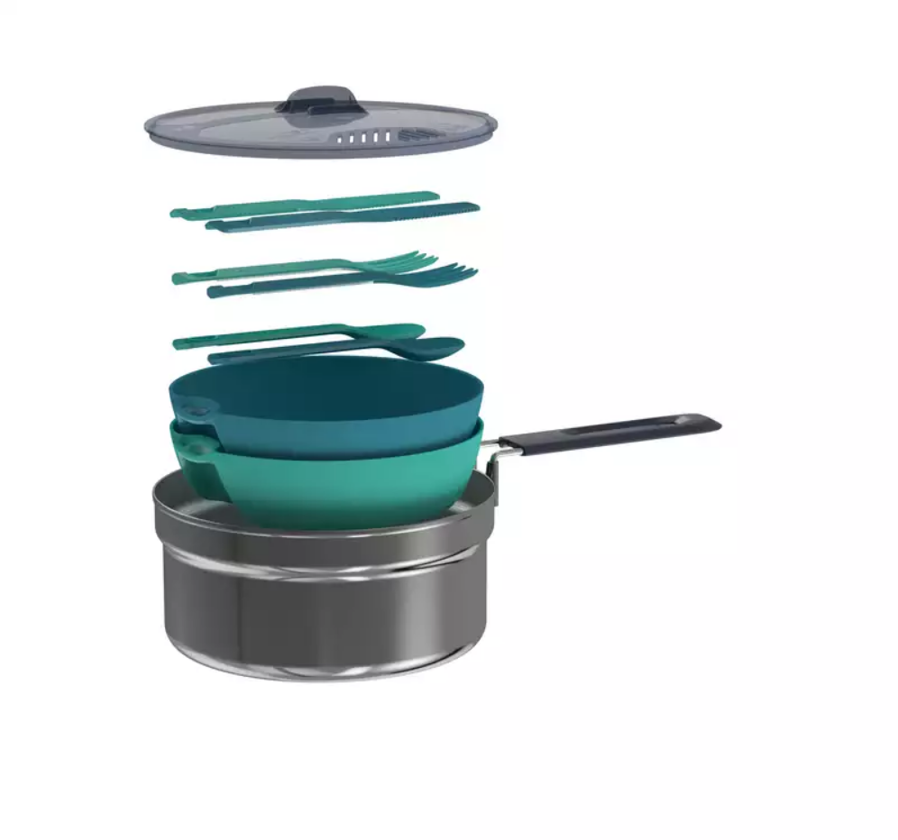 Hiker's Camping Stainless Stell Cook Set 2 People (1.6 L) Cooking set Outdoor