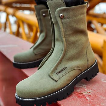 Chekich buty na buty męskie męskie buty zimowe moda śnieg buty Plus rozmiar zimowe trampki kostki mężczyźni buty zimowe buty obuwie męskie podstawowe buty buty męskie 2021 zimowe buty dla mężczyzn Zapatos Hombre CH027 V3 tanie i dobre opinie TR (pochodzenie) Mieszane kolory Dla osób dorosłych Sztuczna skóra okrągły nosek Na wiosnę jesień Med (3 cm-5 cm)