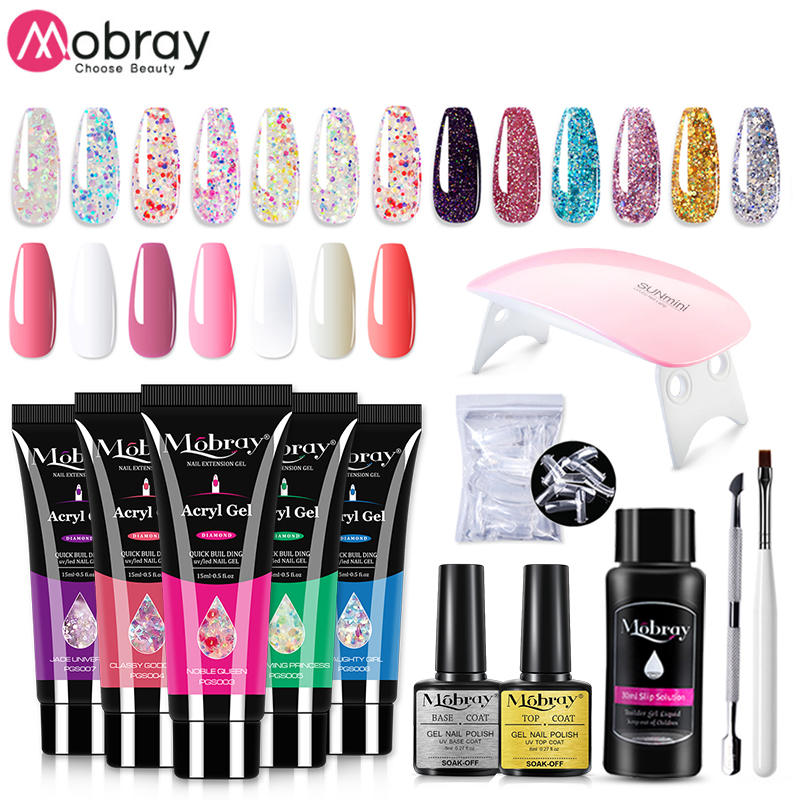 Nail-Gel Uv-Led-Lamp Poly Quick-Building Mobray 15ml with