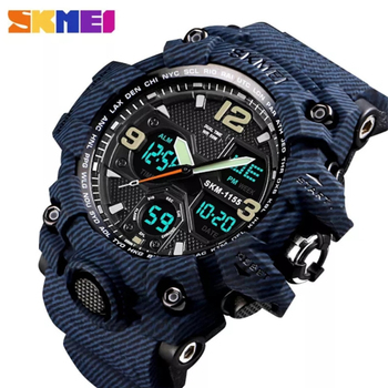 SKMEI Outdoor Sports Watch Men Dual Display Wristwatches 5Bar Waterproof Military Camouflage Watches Relogio Masculino Clock Male Digital Movement Chronograph Back Light LED display  Shock Resistant watches men sports silicone clock male digital shock wrist watch led military waterproof electronic stop watch running outdoor