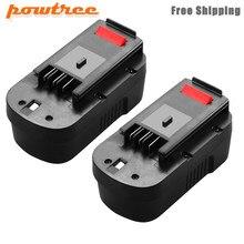 Bateria recarregável das ferramentas de powtree 3500 mah 18 v hpb18 ni-mh para black & decker a18 a1718 a18nh HPB18-OPE fs1800cs fs1800d fs180