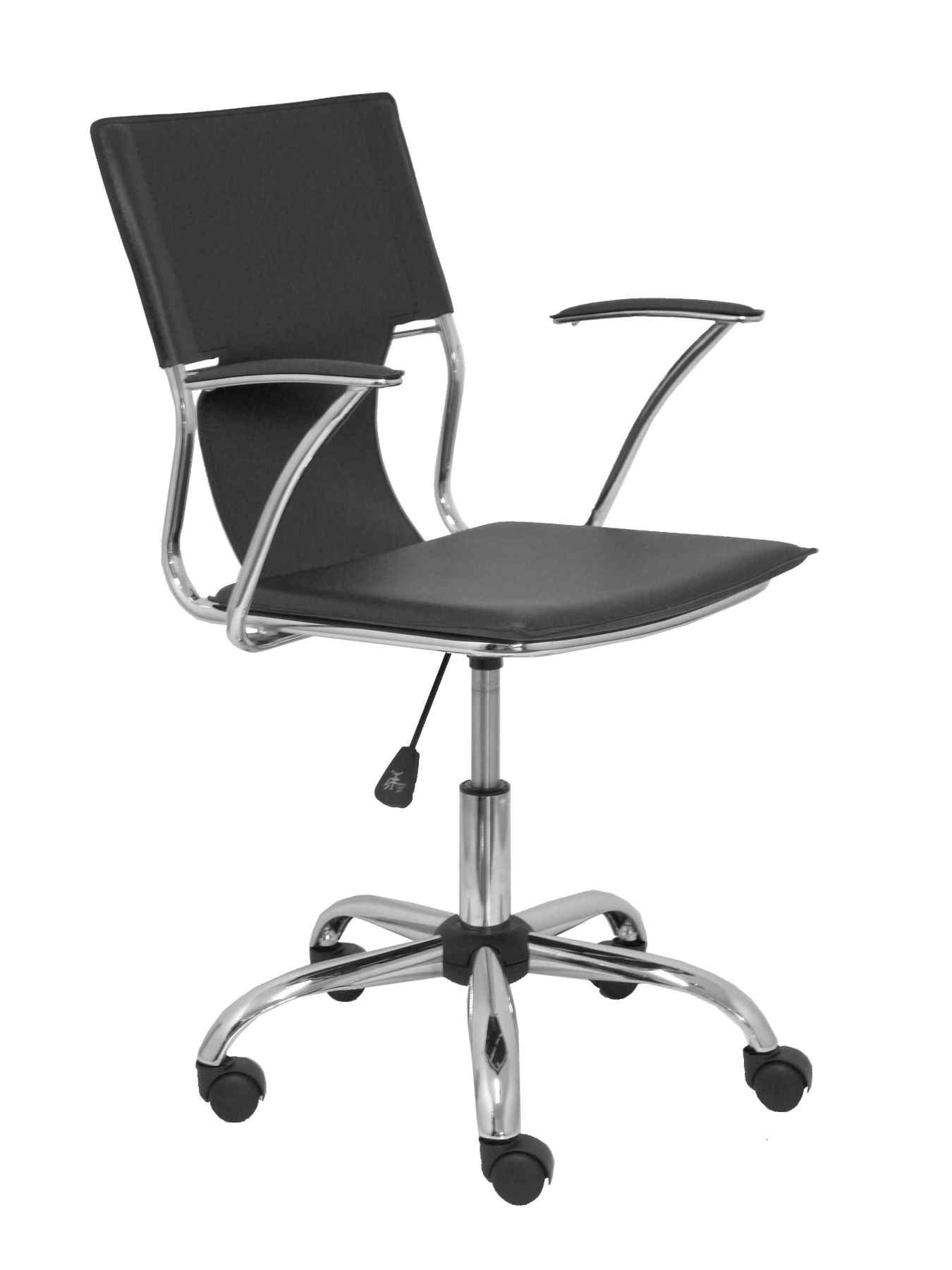 Ergonomic Office Chair With Arms Fixed Adjustable Height And Swivel 360 °-Seat And Backrest In S
