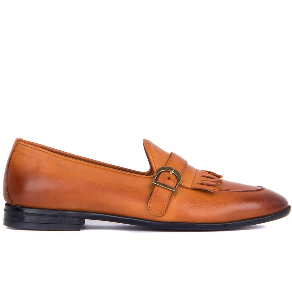 Sail Lakers-Tan Leather Men 'S Shoes