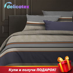 Set Tempat Tidur Delicatex 15294-1Simple Home Tekstil Seprai Linen Bantalan Cover Duvet Cover Рillowcase