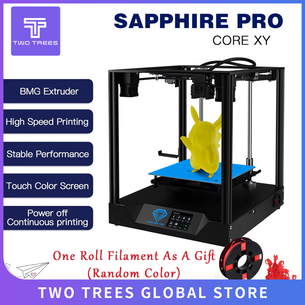TWO TREES 3D Printer Sapphire pro CoreXY BMG Extruder Core xy High-precision Pro 3d DIY Kits 3.5 inch touch screen facesheild
