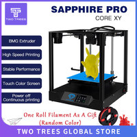 TWO TREES 3D Printer Sapphire pro CoreXY BMG Extruder Core xy High precision Pro 3d DIY Kits 3.5 inch touch screen facesheild