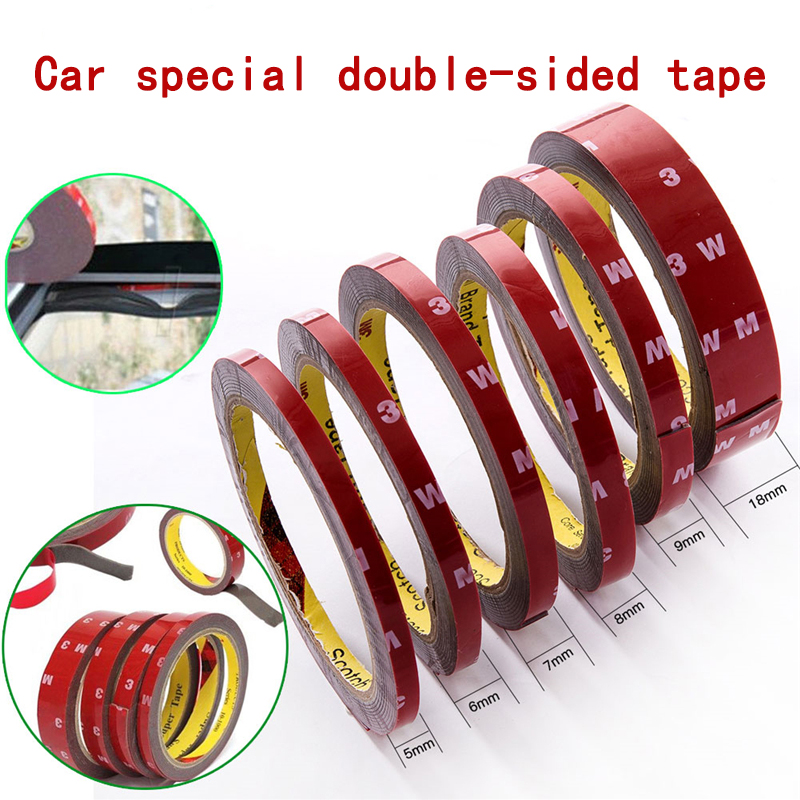 Car Special Double-sided Tape 3M VHB Black Strong Permanent Auto Spezial doppelseitiges Klebeband 5/6/7/8/9/10/12/15/18/20MM