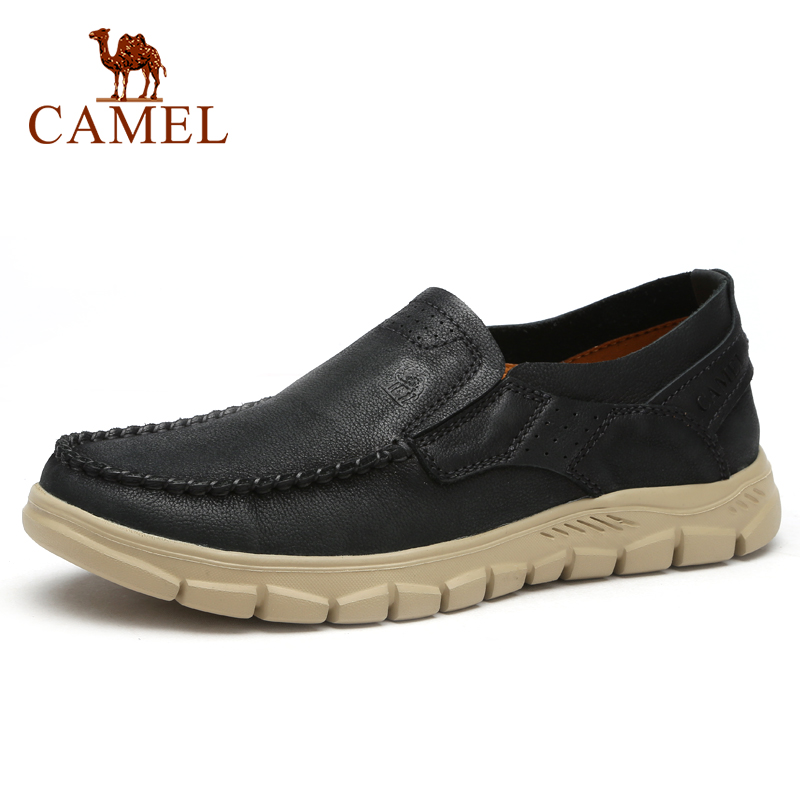 CAMEL New Fashion Genuine Leather Men Shoes Tooling Outdoor Casual Shoes Cowhide Rhubarb Shoes Man Stitching Quality Boots
