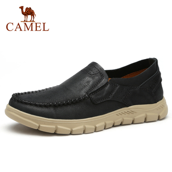 CAMEL New Fashion Genuine Leather Men Shoes Tooling Outdoor Casual Shoes Cowhide Rhubarb Shoes Man Stitching Quality Boots camel comfortable casual shoes matte genuine leather men shoes anti man wear resistant tooling footwear fashion mocassins homens