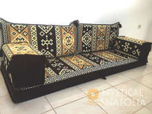 Canapé de siège au sol arabe, coussin de siège Oriental, pour le salon, le narguilé, le lis arabe, Jalsa