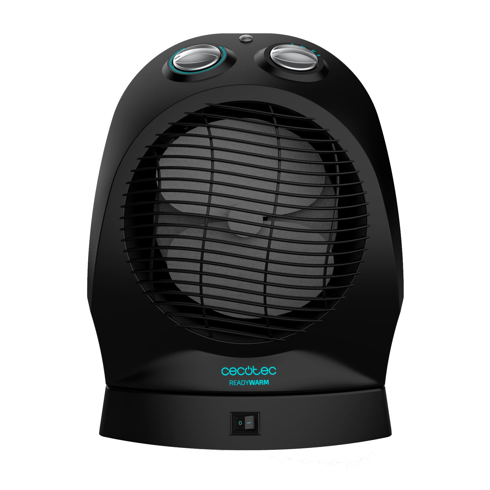 Cecotec Calefactor Ready Warm 360º. Distribución Homogénea, Termostato Regulable, 3 Modos, Protección Sobrecalentamiento, Sensor