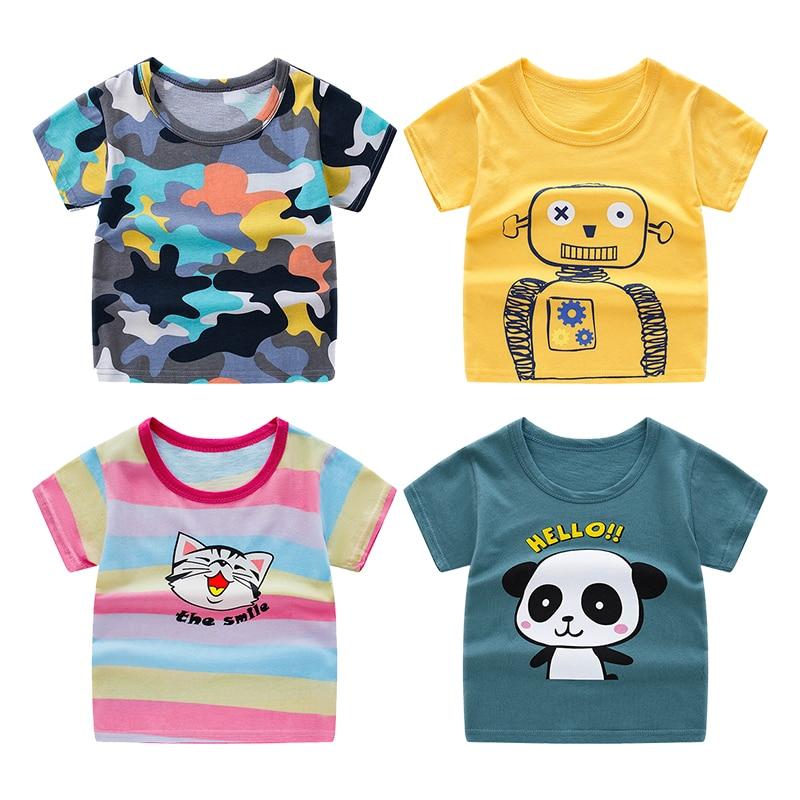 Детская футболка с короткими рукавами, хлопковая футболка, топы для мальчиков и девочек, футболки, летняя детская футболка|Тройники|   | АлиЭкспресс - 11/11 AliExpress