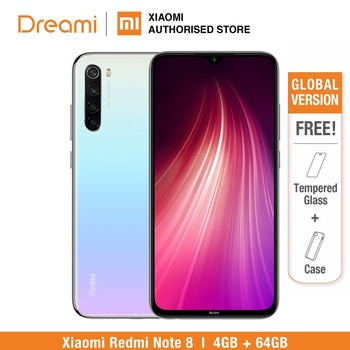Versión Global Redmi Note 8 64GB ROM 4GB RAM, ROM Oficial (Nuevo y Sellado) note8 64gb Teléfono Móvil