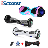 6.5 Inch Patinete Eletrico Hoverboards Self Balance Electric Hoverboard with remote control + wheel lights Two Wheels Hoverboard Self Balance Scooters    -