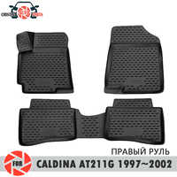 Floor mats for Toyota Caldina AT211G GDM 1997~2002 rugs non slip polyurethane dirt protection interior car styling accessories
