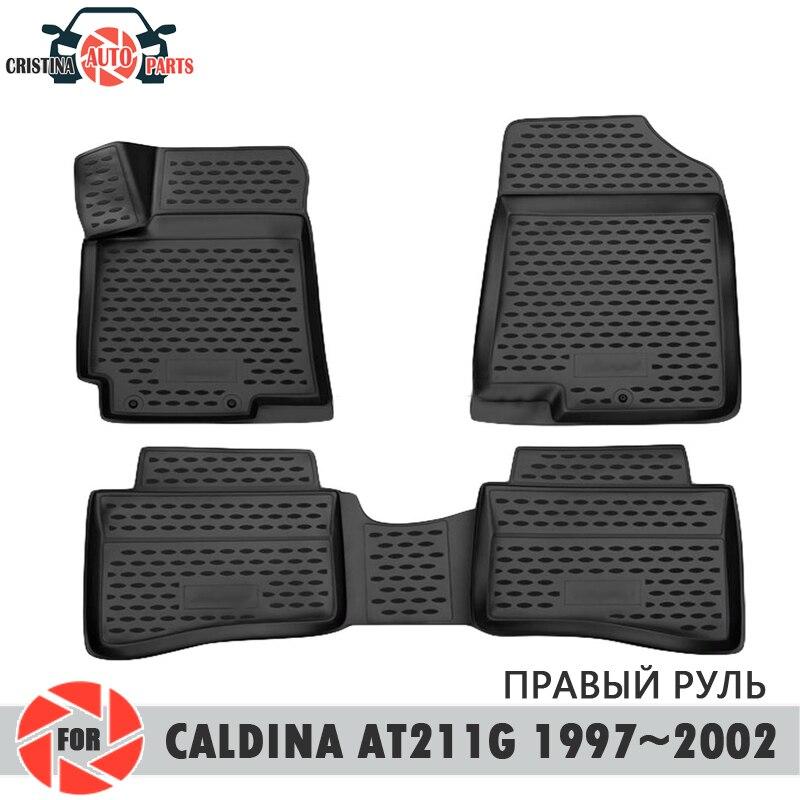 Tapis de sol pour Toyota Caldina AT211G GDM 1997 ~ 2002 tapis antidérapant polyuréthane protection contre la saleté accessoires de style de voiture intérieure