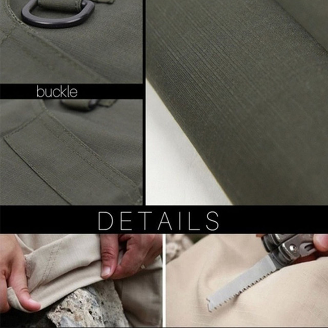 City Military Casual Cargo Pants Elastic Outdoor Army Trousers Men Slim Many Pockets Waterproof Wear Resistant Tactical Pants 6