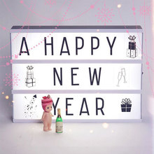 A4 Size Cinema Lightbox Children Diy Message Board With Black Letters AA Battery Powered Portable Cinema Box New Year Gift
