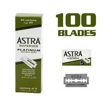 100pcs 100 Astra superior razor blade platinum double-edged safety shaving razor razor blade визитница razor лиловый