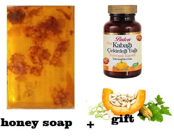 (gift Items)HANDMADE NATURAL HONEY SOAP 100gr+Gift Food Supplement Health Pumpkin Seeds High In Antioxidants Magnesium