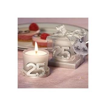 Lote de Velas 25 ° Aniversario Bodas de Plata - Detalles de...