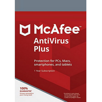 McAfee AntiVirus Plus 2020 - 1-Year / Unlimited Devices / Global  Activation