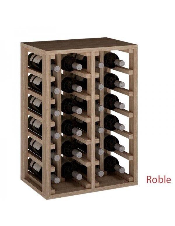 Botellero En Roble Macizo