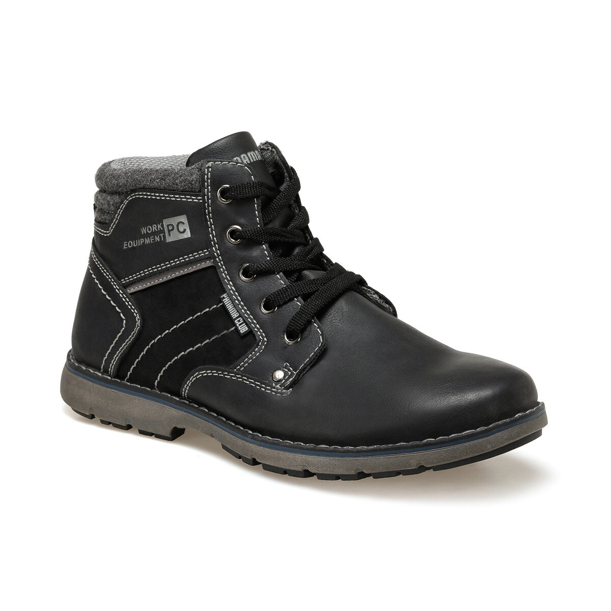 FLO SD9607 Black Men Boots Panama Club