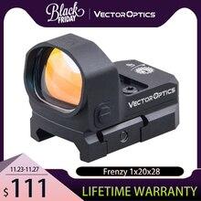 Vector Optics Frenzy mira telescópica de punto rojo, visor de colimador 3MOA IPX6, apta para GLOCK 17 19 9mm AR15 M4 AK Shotgun 12ga, 1x20x28
