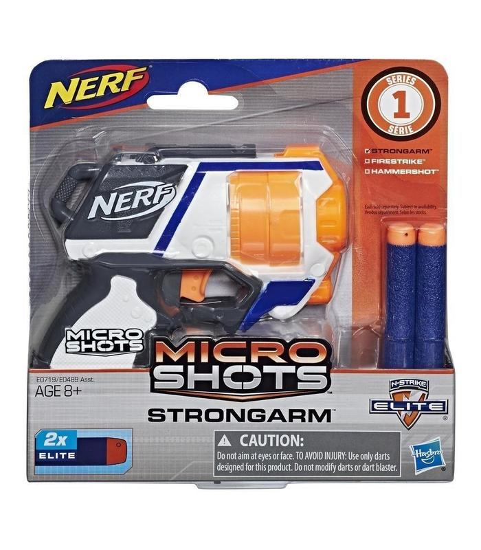 Nerf MicroShots Strongarm Toy Store Articles Created Handbook