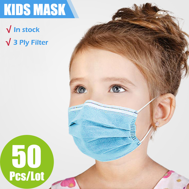 New Arrival  3-Layer Filter Kids Face Mouth Mask Disposable Mouth Mask Non-woven Breathable Child Face Masks