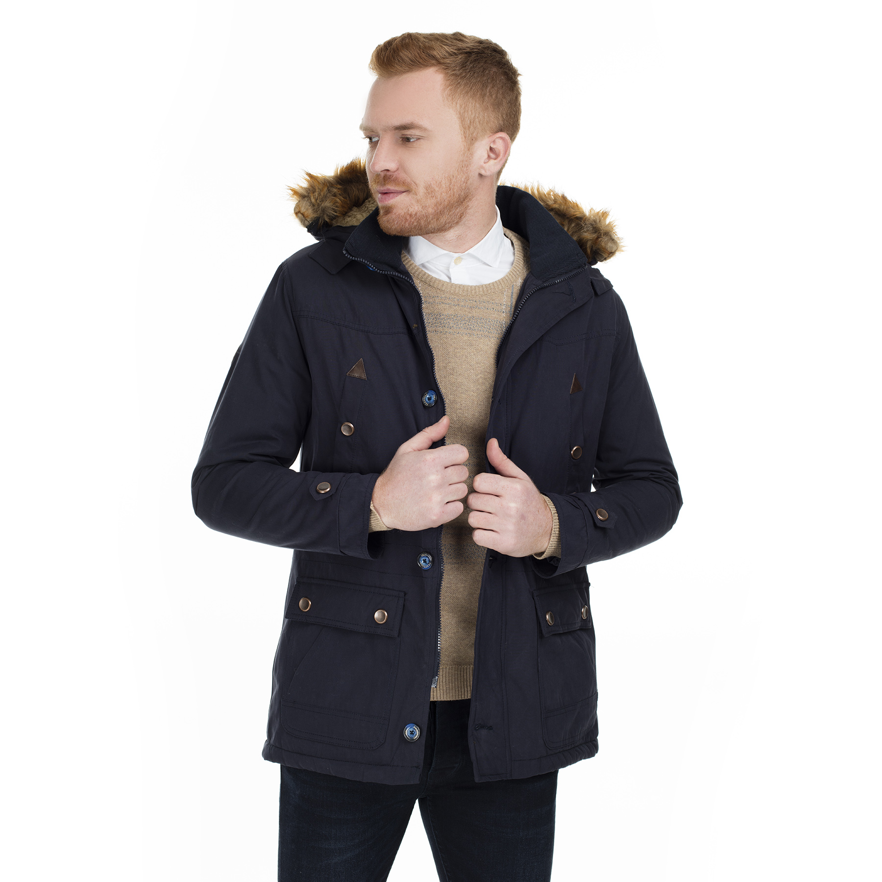 Frappoli Slim Fit Hooded Coats MALE COATS 2162036 AW0