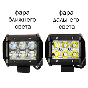 Image 2 - 18 W LED headlight OFF ROAD for auto truck motobike quadbike boat waterproof 4x4 UAZ NIVA tractor trailer SUV hight/low beam