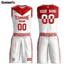 Индивидуальные колледж Реверсивный Баскетбол Джерси дизайн торговля красный и белый баскетбольные шорты