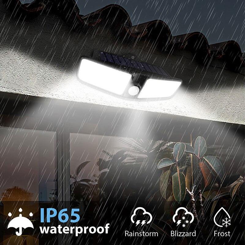 Date 4 pièces 80 LED 3 Modes jardin lampes LED solaires extérieur solaire applique étanche IP65 solaire économie d'énergie sécurité lumière - 2