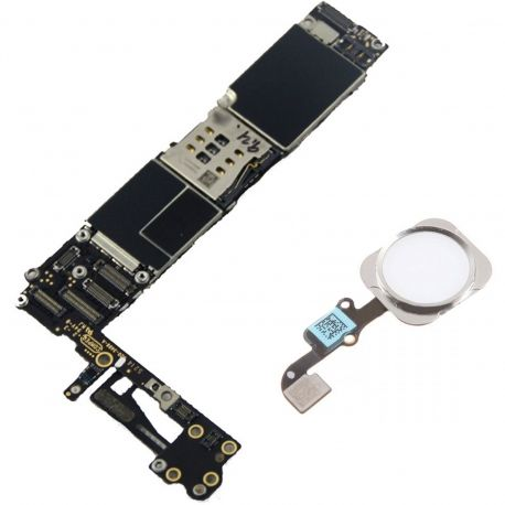Best  Motherboard for Apple iPhone 6 A1586 16GB With Home Button  Color Silver