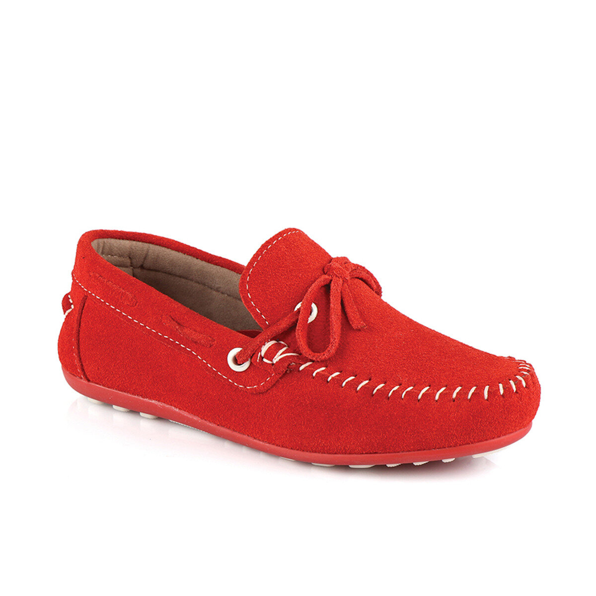 FLO 908.18Y.302 F LEATHER Red Male Child Loafer Shoes VICCO