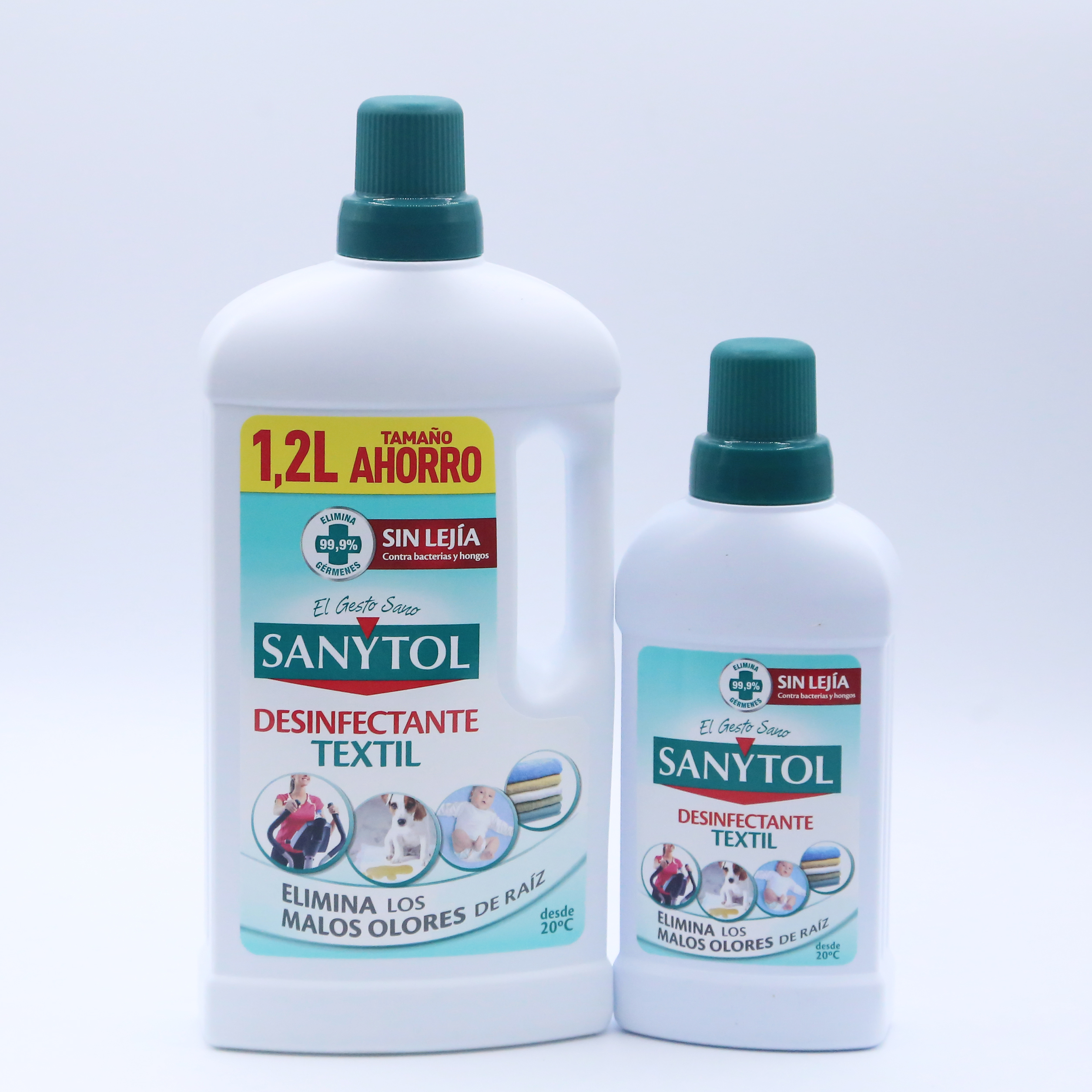 1ud Disinfectant Textile Fabric Removes Bad Smells Root Without Bleach Anti Bacteria And Shrooms 1.2L 500ml