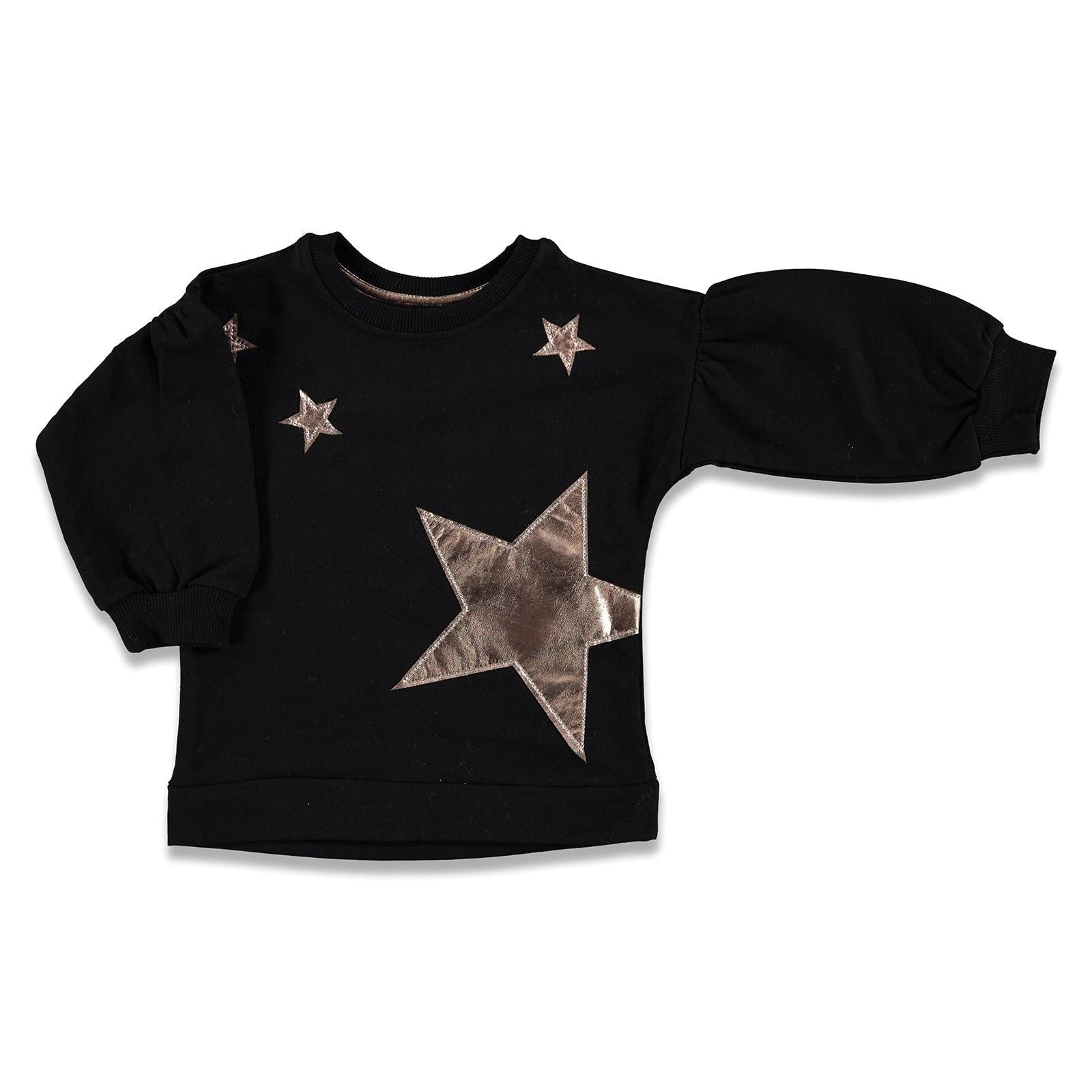 Ebebek Tuffy Shiny Star Printed Baby Girl Sweatshirt