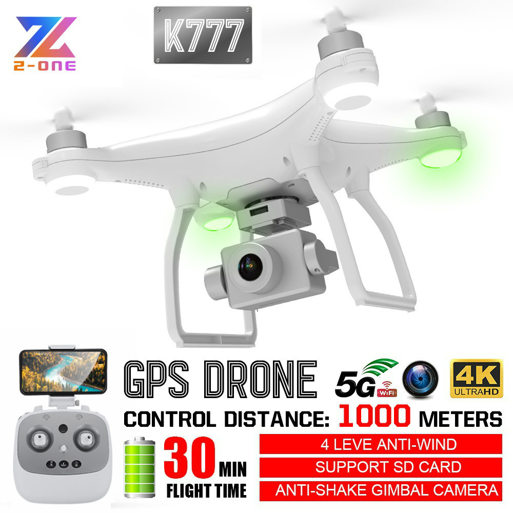 K777 Drone 4K with Camera HD Gimbal GPS WiFi HD Profissional RC Quadcopter Brushless Motor Drones 30mins 1KM VS X35 SG906 PRO image
