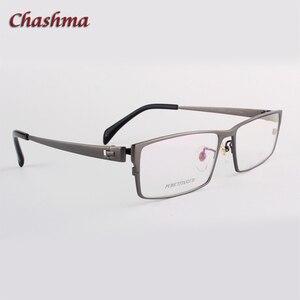 Image 3 - สุภาพบุรุษหน้ากว้างไทเทเนียมบริสุทธิ์แว่นตากรอบแว่นตา Full Rimmed Gafas แว่นตาแว่นตา