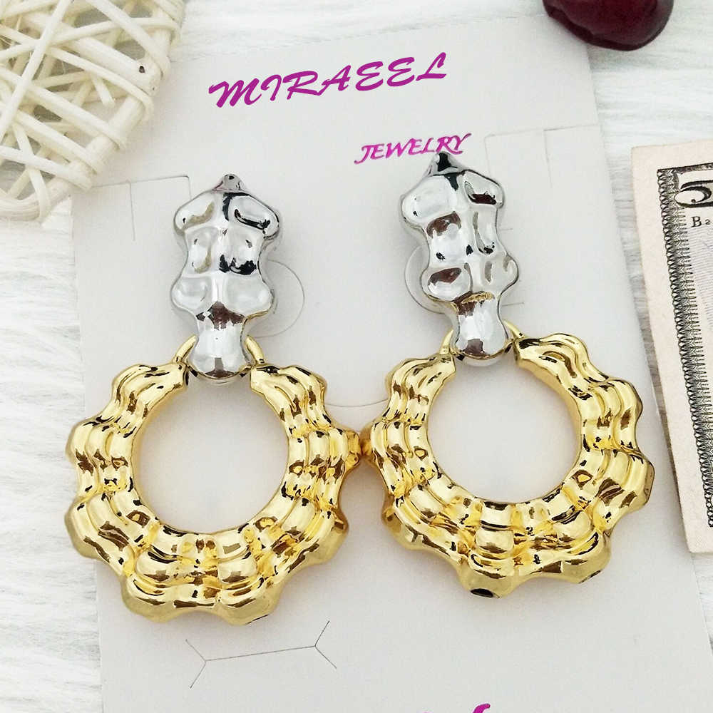 2020 Tembaga Vintage Anting-Anting Besar untuk Wanita Laporan Anting-Anting Emas Unik Liontin Logam Tren Anting-Anting Fashion Perhiasan Hadiah