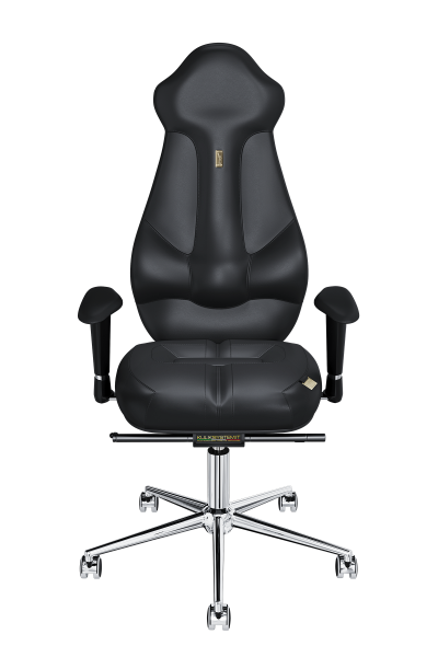 Office Chair KULIK SYSTEM IMPERIAL Black Computer Chair Relief And Comfort For The Back 5 Zones Control Spine